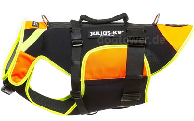 IDC multifunktionale Hundeweste 3 in 1 Julius K9, neon