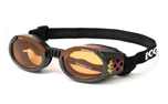 Hundebrille Doggles schwarz metallic racing flames