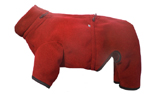 IQO Hundeoverall aus Thermofleece, rot