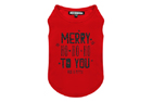 Milk and Pepper Merry Rouge T-Shirt für Hunde