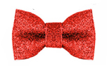 Milk and Pepper Hundefliege Stardust Bow Red Glitters Bow Tie, rot