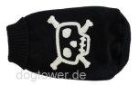 Wolters Strick-Hundepullover Totenkopf